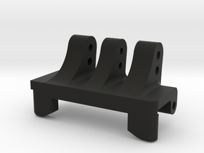 Rear Upper Link Riser-Narrow w/2 Vert Double Shear in Black Natural Versatile Plastic