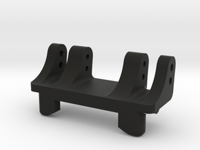 Rear Upper Link Riser-Normal w/2 Vert Double-Shear in Black Natural Versatile Plastic