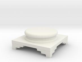 Pedestal for statue in White Natural Versatile Plastic