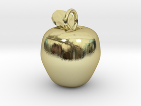 Apple Charm in 18k Gold Plated Brass