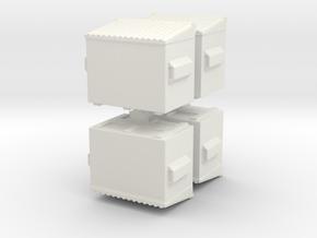 Dumpster (x4) 1/144 in White Natural Versatile Plastic