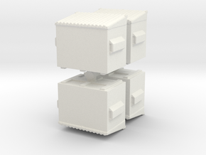 Dumpster (x4) 1/160 in White Natural Versatile Plastic