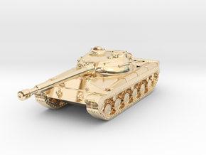 Tank - T-64 - Object 430 - scale 1:220 in 14K Yellow Gold