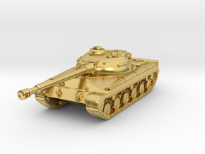 Tank - T-64 - Object 430 - scale 1:220 in Polished Brass