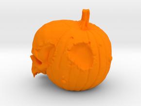 Pumpskull in Orange Processed Versatile Plastic