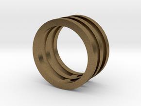 Innovation inspired rings 14-karat roses gold ring in Natural Bronze