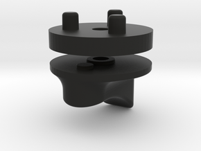 Emek/Etha 2 Two Piece Bolt Cap - FIN  in Black Natural Versatile Plastic