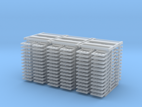 truck frame (3 pack) in Smooth Fine Detail Plastic