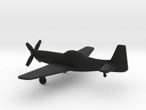 North American P-51H Mustang in Black Natural Versatile Plastic: 1:160 - N
