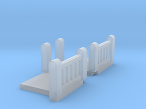Concrete Art Deco Stair Landing (N scale) in Smooth Fine Detail Plastic