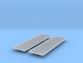 Ecto-1 bonnet grilles in Smoothest Fine Detail Plastic