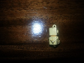 Differnt Worlds pendent in Polished Gold Steel