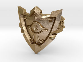 Millenium Shield Equipped with Ring of Magnetism in Polished Gold Steel