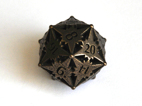 D20 Balanced - Starlight (Small) in Polished Bronze Steel