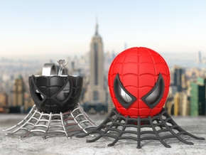 Spider Ring Box - Engagement and Proposal Ring Box in Red Processed Versatile Plastic