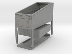 Mini Pinball Cabinet V2 - 1:10 Scale 3 parts in Gray PA12
