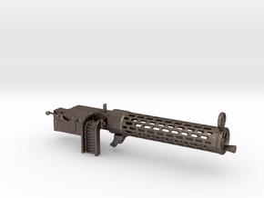 Spandau gun 1/12 in Polished Bronzed Silver Steel