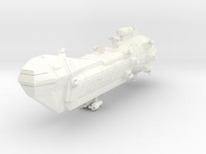 Lancer Class Frigate in White Processed Versatile Plastic