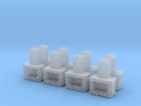 Stone Fireplace (x8) 1/285 in Smooth Fine Detail Plastic