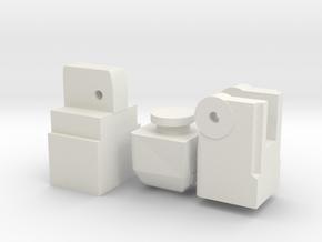 robot leg system part 1 in White Natural Versatile Plastic