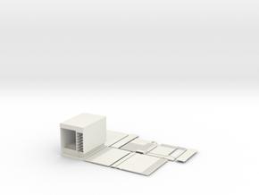 Micro SGI Onyx in White Natural Versatile Plastic