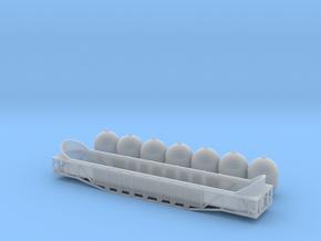 Bakelite Plastic pellet car Z scale in Smooth Fine Detail Plastic