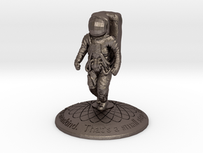 Astronaut in Polished Bronzed Silver Steel