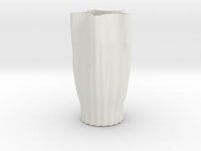 Vase 18 Redux in White Natural Versatile Plastic