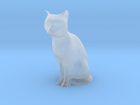 1/20 Sitting Cat in Smooth Fine Detail Plastic