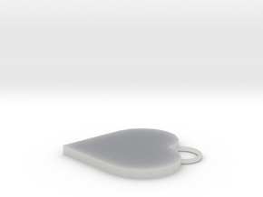 Heart pendant in Smooth Fine Detail Plastic