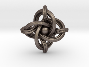A small 23mm version of the infinity knot in Stainless Steel