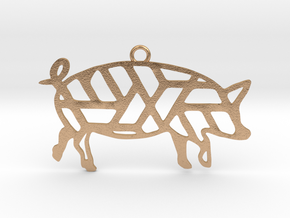 Year Of The Pig Charm in Natural Bronze