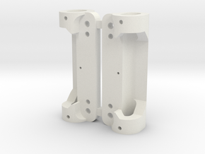 Adjustable Front Axle Support Carrera D124 DTM in White Natural Versatile Plastic