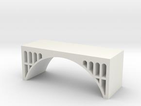 Dual Track Arch Bridge - Zscale in White Natural Versatile Plastic
