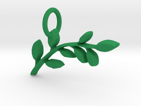 Laurel Branch Pendant in Green Processed Versatile Plastic