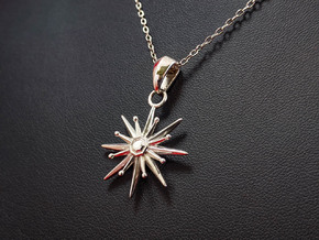 Starburst Pendant in Polished Silver (Interlocking Parts)