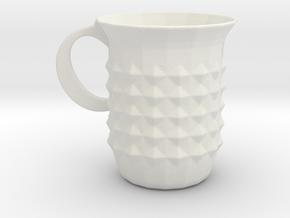 Tuesday Mug in White Natural Versatile Plastic
