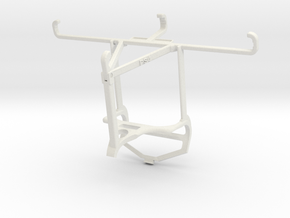 Controller mount for PS4 & Sharp Aquos V - Top in White Natural Versatile Plastic