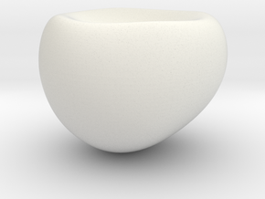 Pebble Salt and Pepper Shaker in White Natural Versatile Plastic