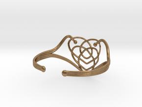 Celtic Motherhood Knot Braclet in Natural Brass