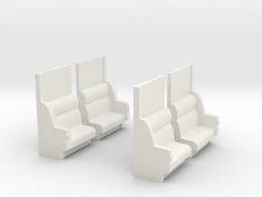 CNR End Sections (draft, 2pr) in White Natural Versatile Plastic