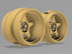 Work Meister S1 RWB style wheel - 9mm Dia - 4 sets in Smoothest Fine Detail Plastic