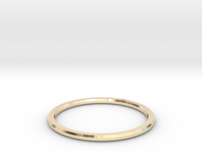 Minimalist Single Band Ring Size 6 in 14K Yellow Gold