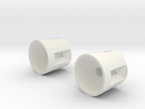 Pyle National Lamp Reflector in White Natural Versatile Plastic