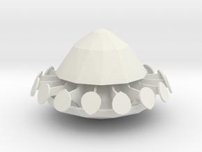 1/200 Scale UFO in White Natural Versatile Plastic