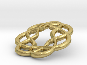 7x Knots in Natural Brass