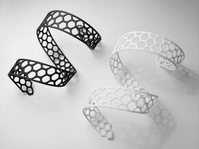 forearm spiral bracelet in White Natural Versatile Plastic