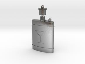 (Decorative) Pocket Flask in Natural Silver