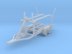 Boat trailer 01. N Scale  (1:160) or 10mm in Smooth Fine Detail Plastic