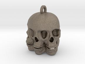 Maggop Skull Keychain/Pendant in Matte Bronzed-Silver Steel